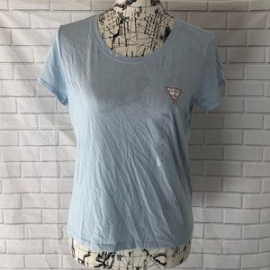NWT GUESS baby crew logo tee blue